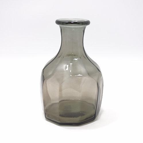 recycled glass zeta vase grey
