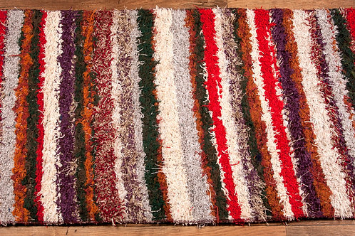 Recycled cotton rug multi stripe