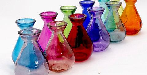 11cm Recycled Glass Bud Vase