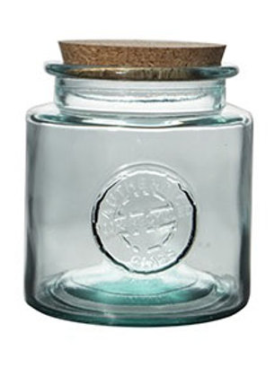 Recycled glass  250ml Authentic storage jar