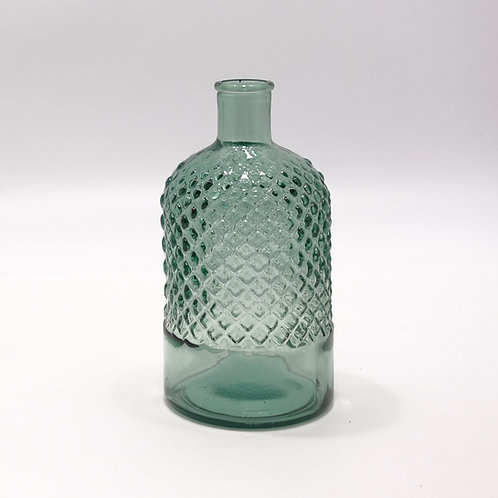 "Recycled Glass Stem Vase  |  22cm ""Diamond"""