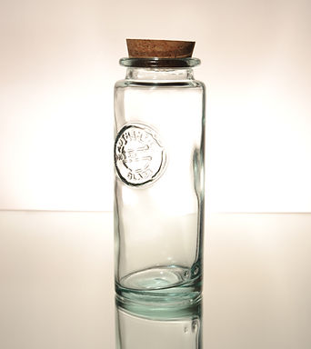"""Recycled Glass Spaghetti Jar 