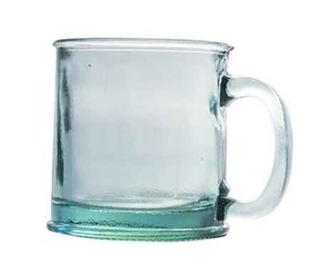 Recycled Glass Mug/Small Tankard  |  350ml Clear | Set of 2