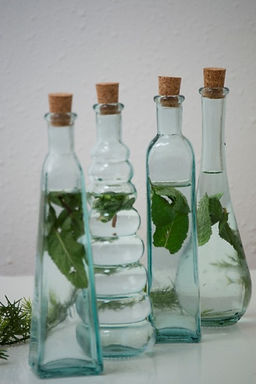 Recycled Glass Bottles  |  300ml Gift Boxed  |  Set of 4