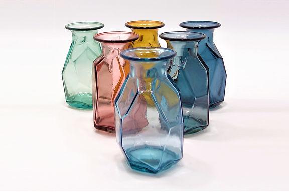 "Recycled Glass Vase  |  16cm ""Origami"" Vase"