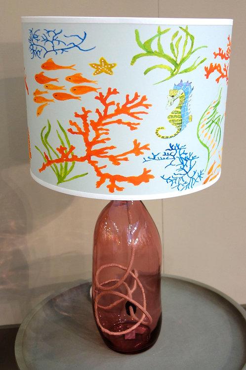 Seahorse lampshade on base