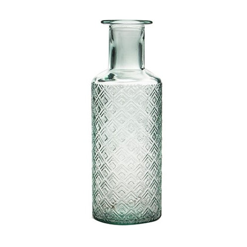 recycled glass textured vase