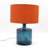 32cm Frances Lamp Petrol Blue