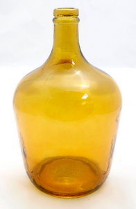 recycled glass amber vase