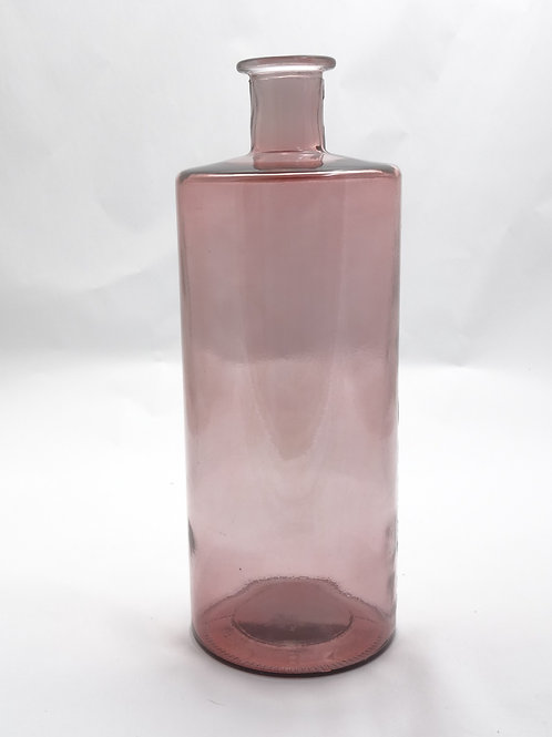 recycled glass vase 40cm pink