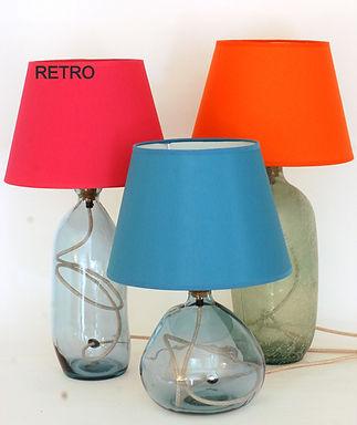 "Handmade Coloured Lamp Shade | 16"" Diameter |  Drum or Retro"