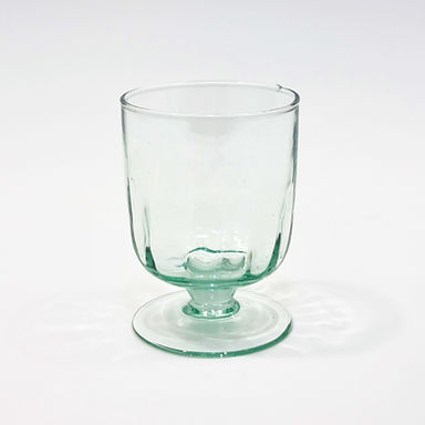 Recycled Glass Fluted Wine Glass   Clear   Set