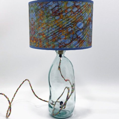 Recycled Glass Table Lamp | 41cm | Blown Glass