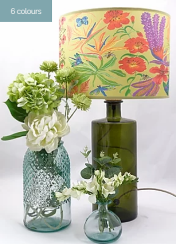 Jarapa recycled glass lamps