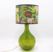 49cm Garrafa Lamp Olive Green