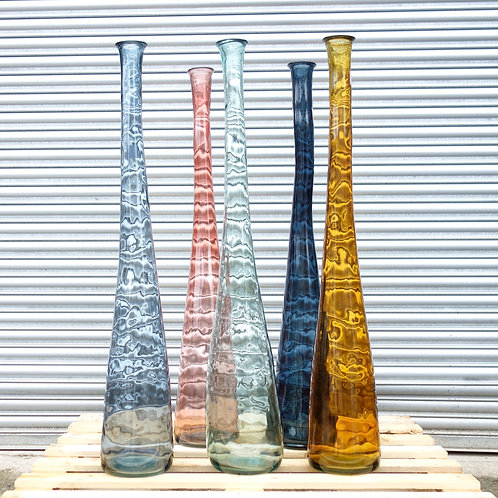 recycled glass large floor vase