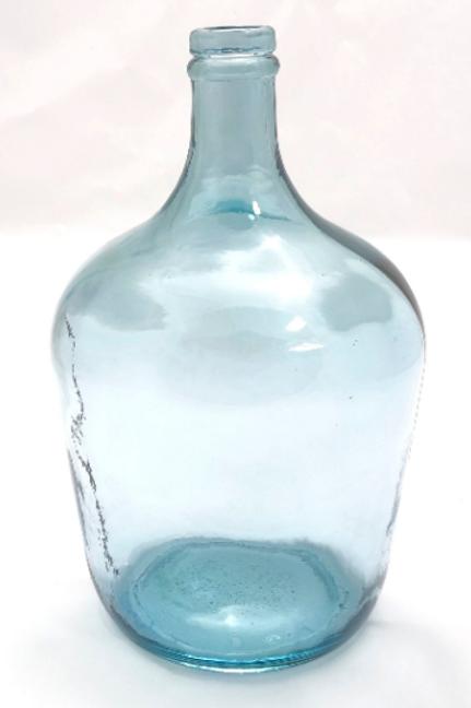 Recycled glass 30cm Garrafa bottle vase light blue