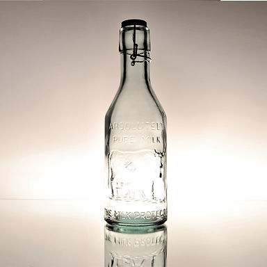 "Recycled Glass Bottle  |  1L ""Milk""  