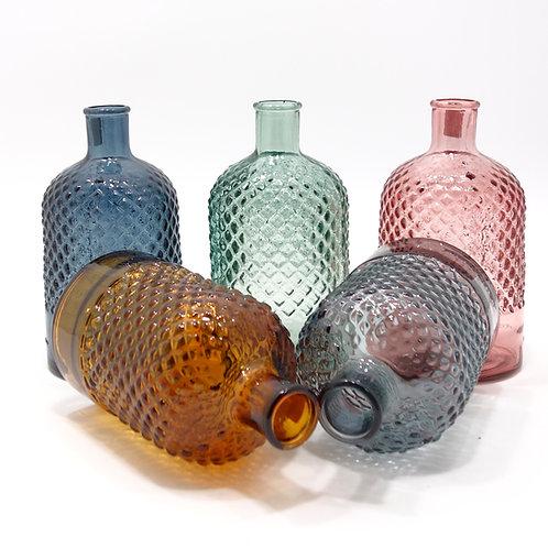 "Recycled Glass Stem Vase  |  22cm ""Diamond"""