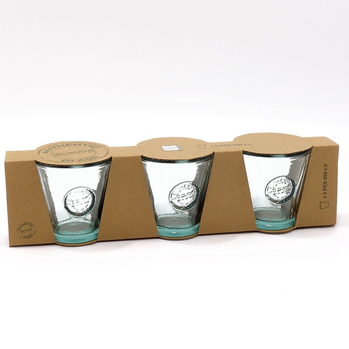 Recycled glass 220ml authentic tumbler giftbox