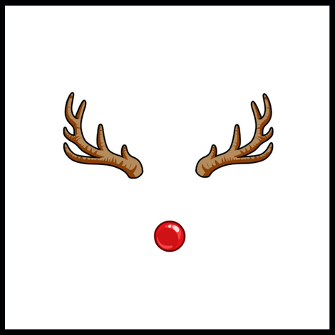 Red Nose & Antlers Prop