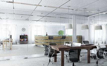Elegant office interior . Mixed media.jp