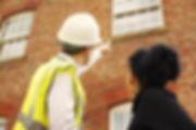 A builder, contractor or surveyor pointi