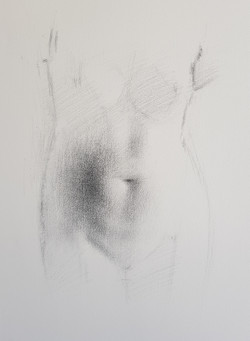 Untitled, charcoal on paper, 2019