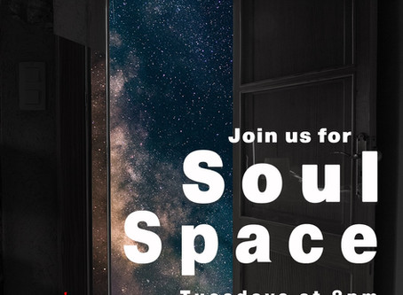 Soul Space-Online on Tuesday, March 17 at 8:00PM