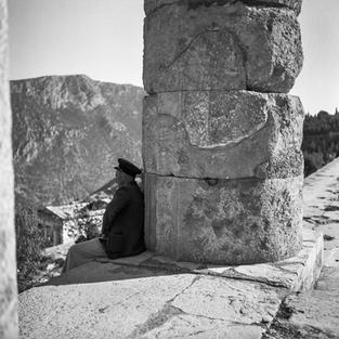 A guard at the Temple of Apollo