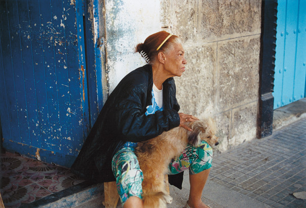 Woman with her dog.