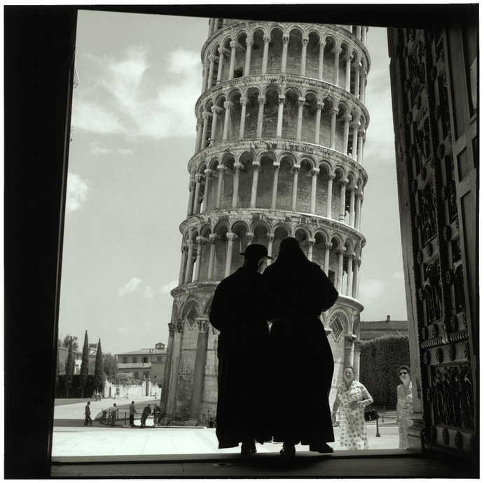 The Tower of Pisa.