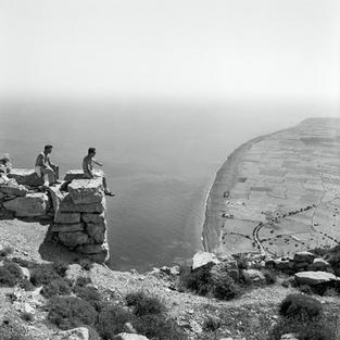 A view to Perissa from the site of Ancient Thera