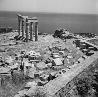 Acropolis at Lindos in Rhodes