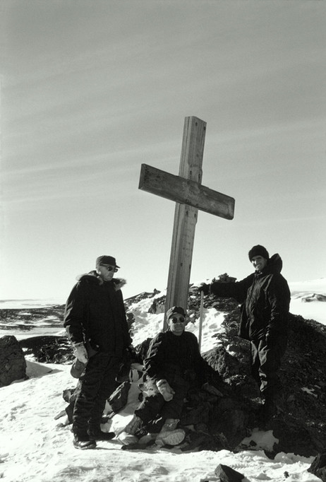 The cross on Observation Hill.