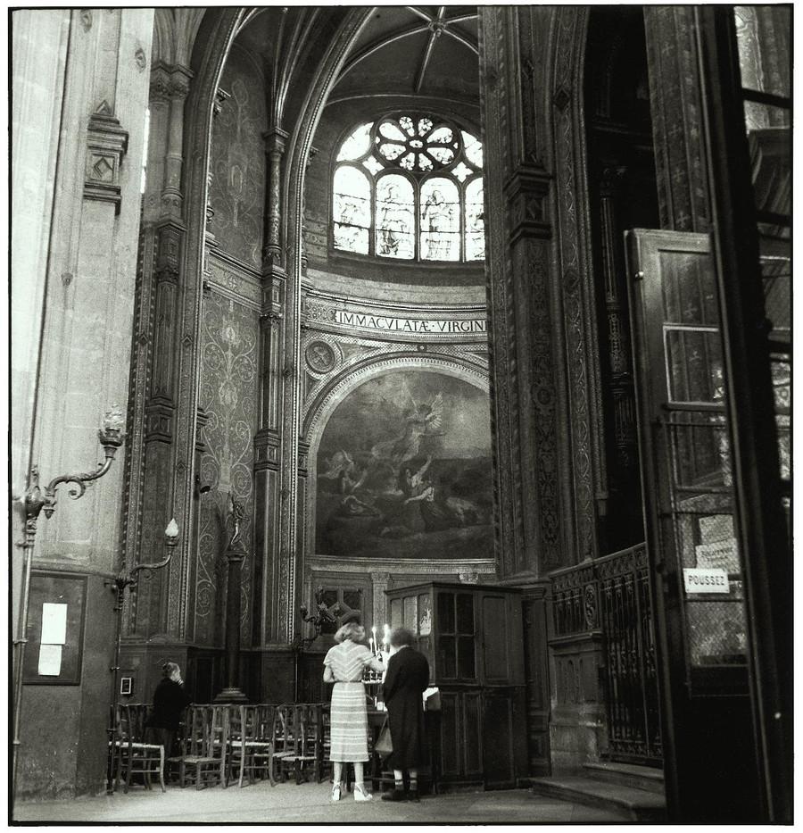 At church in Paris.