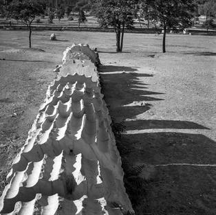 A fallen column