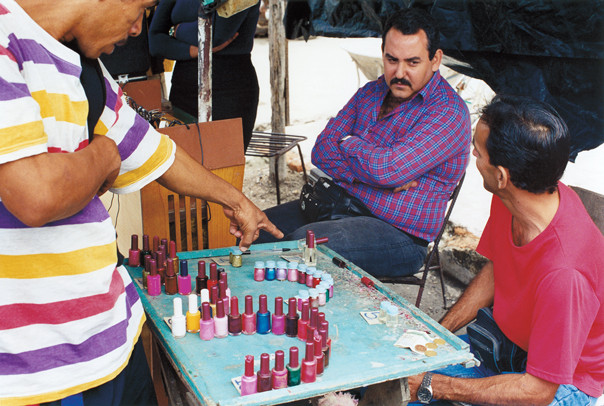 Street bazaar; the nail polish counter.