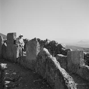 Alan Wace at a grave circle