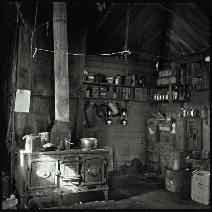 The kitchen of Shackleton's Cape Royds hut.