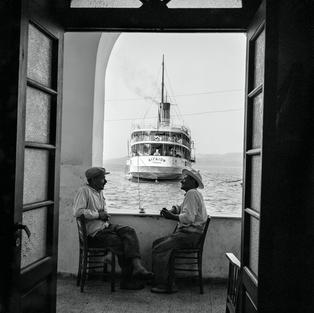The Aegaion in Port below Fira