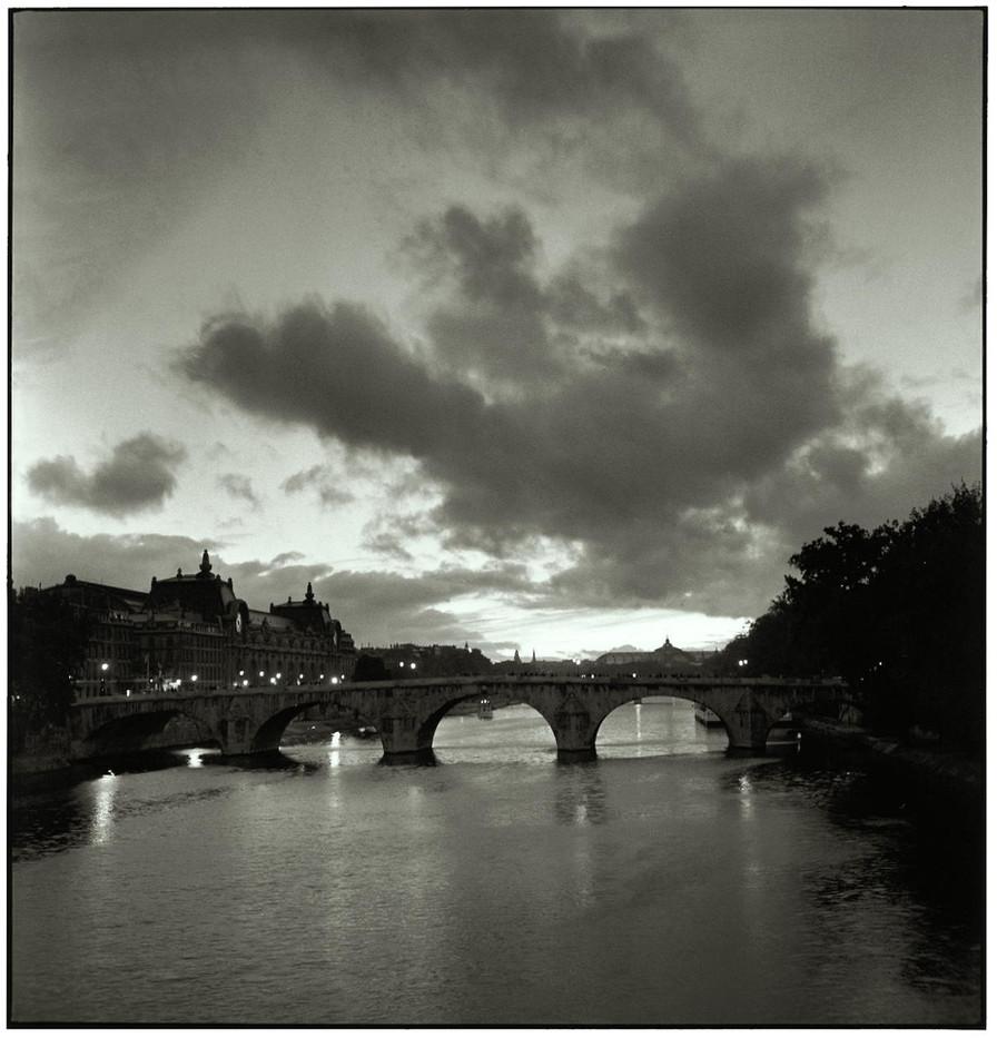 The Pont Royal at dusk.