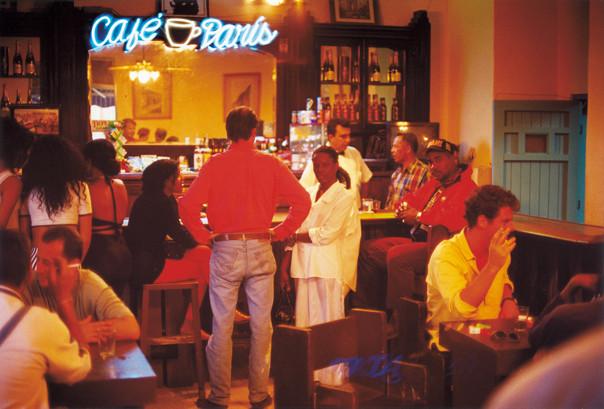 The scene at the Café Paris.