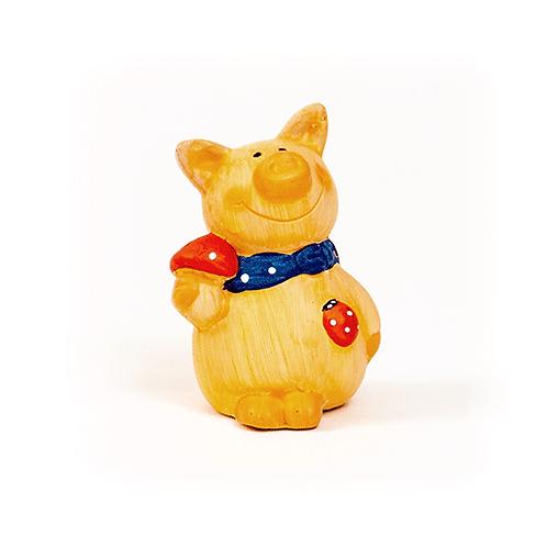 Glücksschwein, 7cm, aus Ton