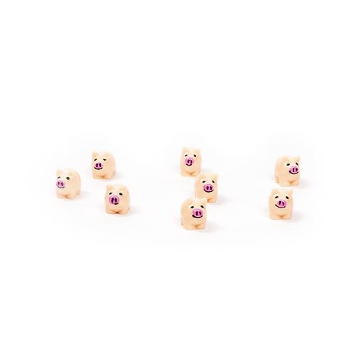 Schweinchen mit rosa Nase