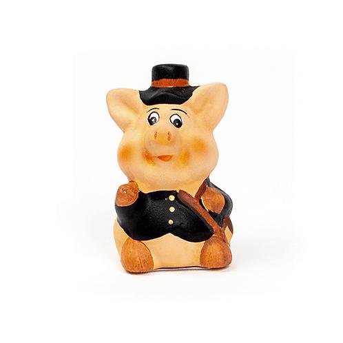 Rauchfangkehrer Schwein, 6,5cm, aus Ton