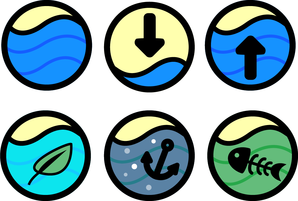 Water Themed Game-Jam Icons