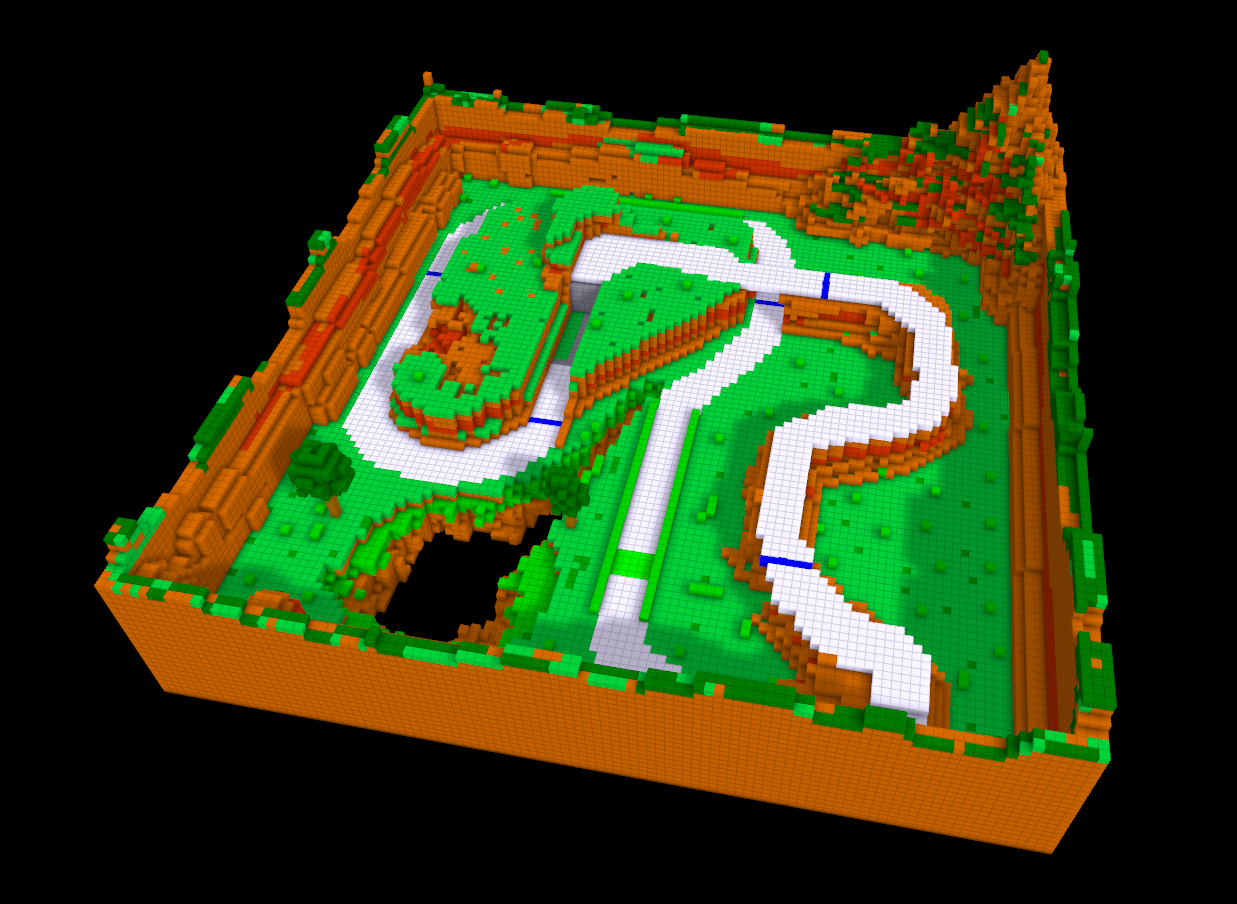 Voxel Race Track