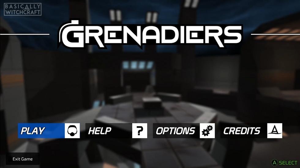 Grenadiers Main Menu
