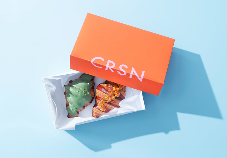 Box of Croissants Packaging design creative design marketing communication strategy Agency FEAGLE Belgium Europe